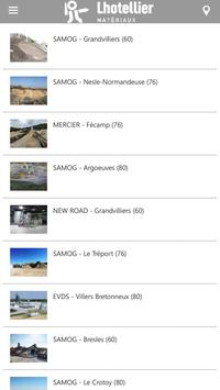 Lhotellier Materiaux apk screenshot