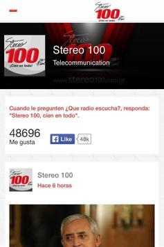 Stereo 100 App apk screenshot