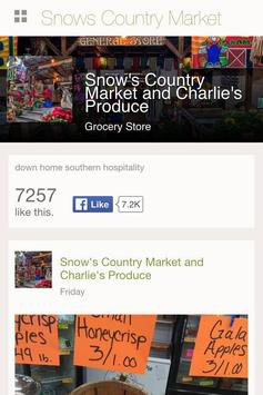 Snow's Country Market poster