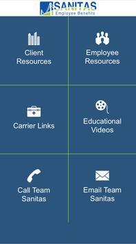 Sanitas Employee Benefits App poster