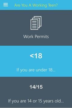 Are You A Working Teen? apk screenshot