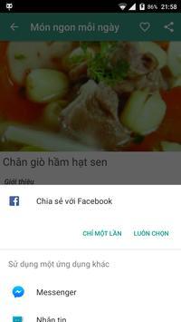 Món ngon mỗi ngày apk screenshot