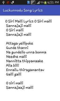 Luckunnodu Song Lyrics Tml apk screenshot