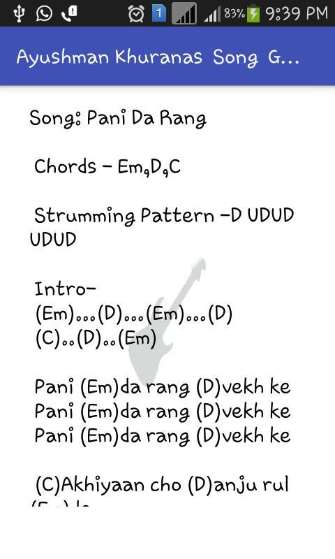 Guitar Chords Songs Ayushman Khurana For Android Apk Download