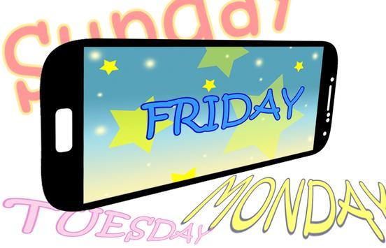days of the week games free apk screenshot