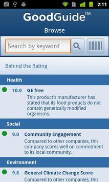 GoodGuide apk screenshot