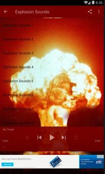 Explosion Sounds lite apk screenshot