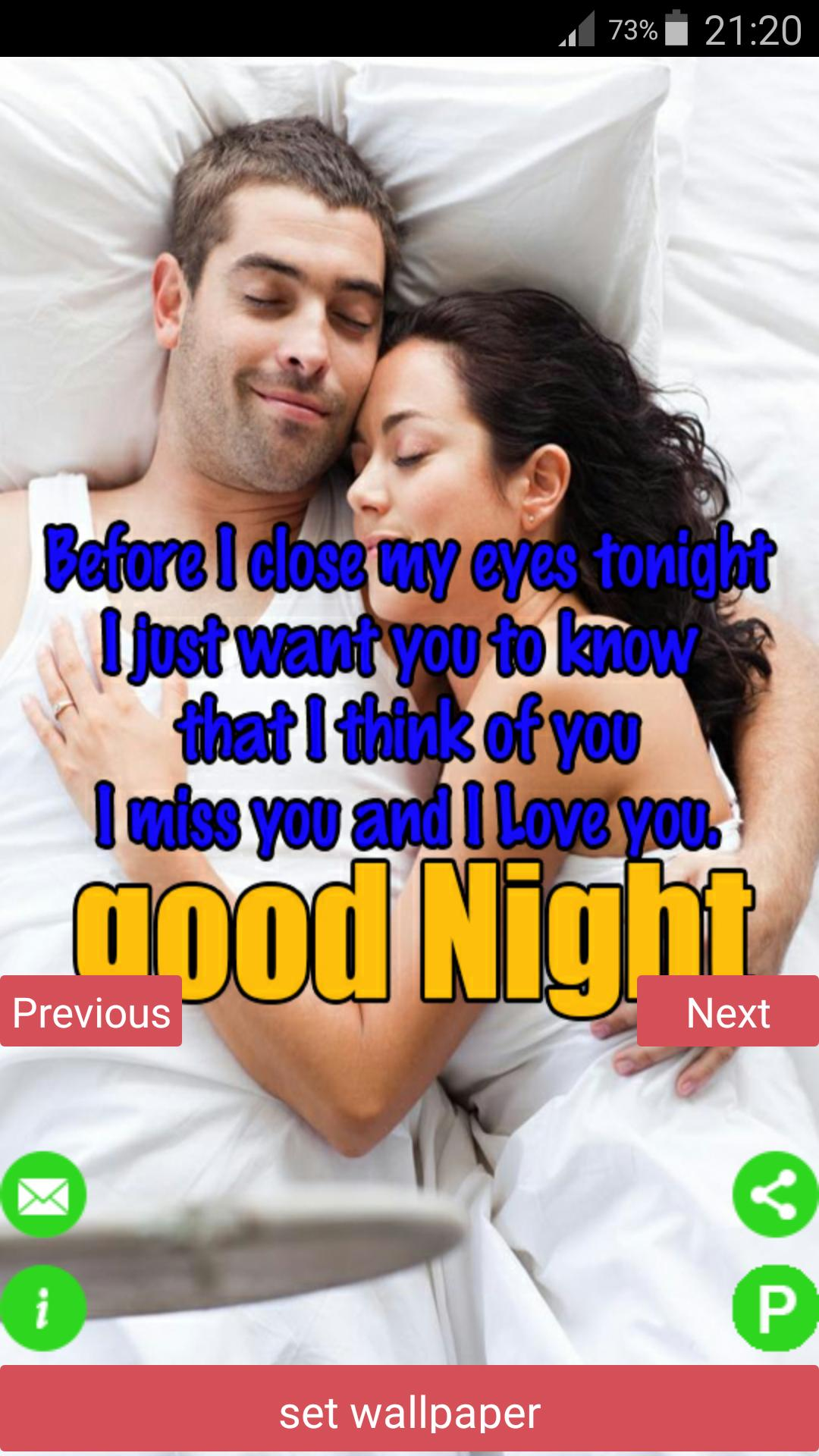 Romantic Couples Good Night HD Images & Messages for Android