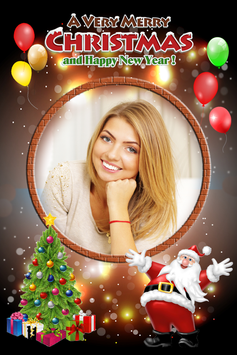 Christmas New Year 2018 Photo Frame screenshot 1