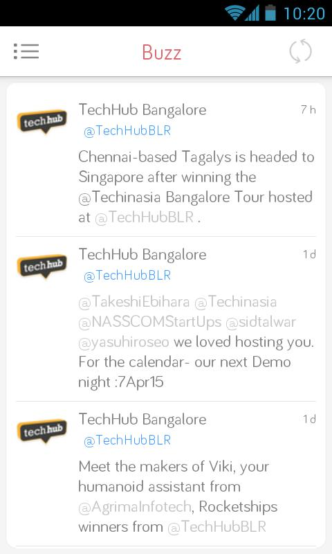 Techhub Bangalore Demo Night poster