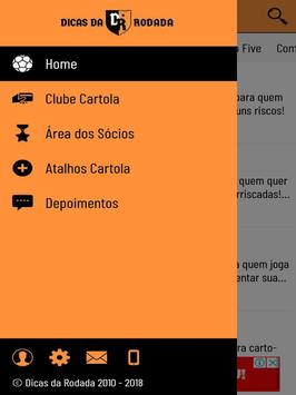 Dicas da Rodada para o Cartola FC apk screenshot