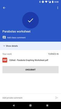 Google Classroom captura de pantalla de la apk