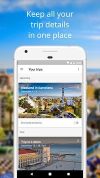 google trips travel planner poster