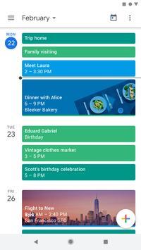 Google Calendar Poster