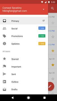 Gmail Go captura de pantalla 1