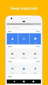 Google Keep - Notes and Lists apk screenshot