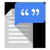 تحويل النص إلى كلام من Google أيقونة