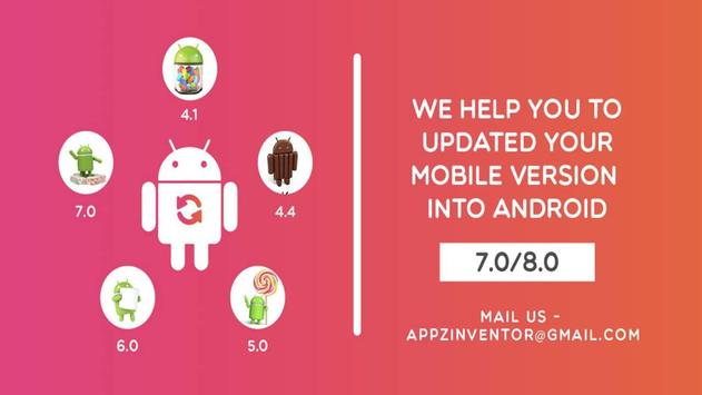 Update for Android (info) - Software up to date poster