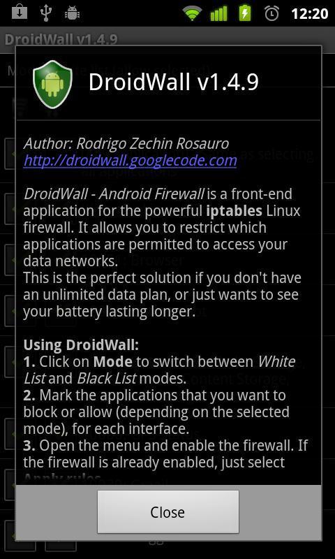 Droidwall Android Firewall Apk Download Kostenlos Tools App Fur