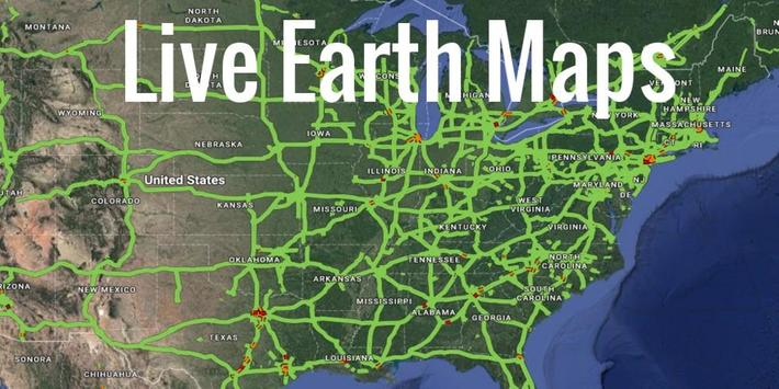 the description of live earth maps