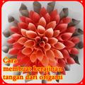 Membuat kerajinan tangan dari kertas origami
