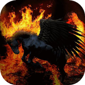Black pegasus live wallpaper icon