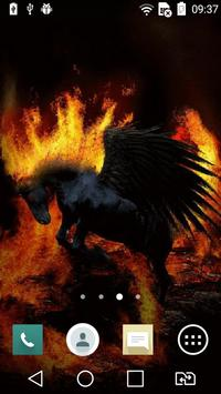 Black pegasus live wallpaper apk screenshot