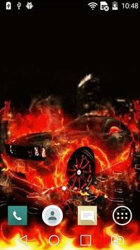 Car on fire live wallpaper apk screenshot