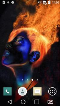 Fiery head live wallpaper poster