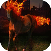 Horse with fiery mane live wp icon