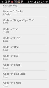 Dragon Tiger Calculator apk screenshot