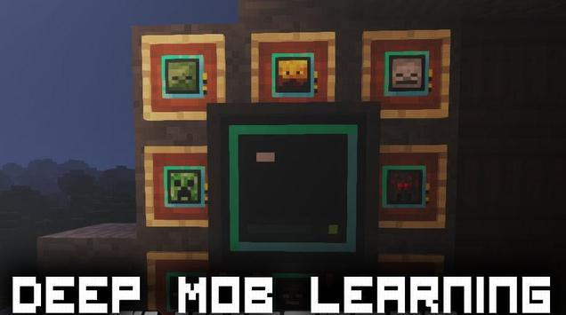 Deep Mob Learning Mod for Minecraft PE poster