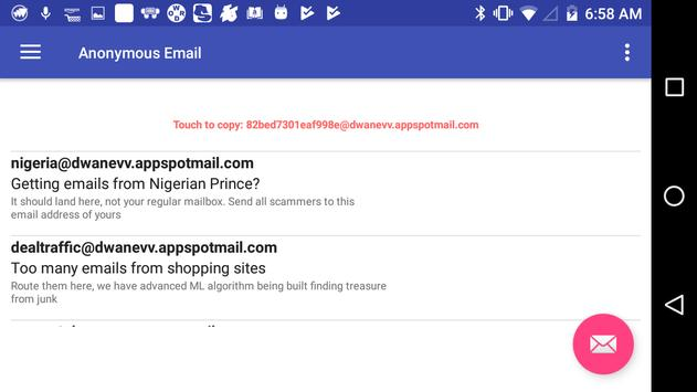 Anonymous/Temporary Email Send Receive for Android - APK