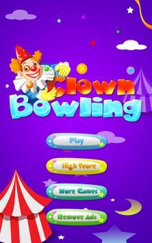 Clown Bowling FREE poster
