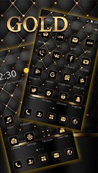 Gold Black Luxury Business Theme screenshot 2
