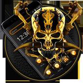 Gold Black Skull Theme icon
