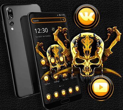 Gold Black Skull Theme screenshot 1