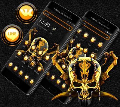 Gold Black Skull Theme screenshot 2