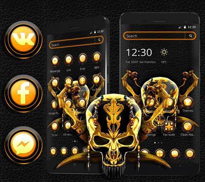 Gold Black Skull Theme screenshot 4