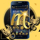 Gold Scorpion Constellation Theme Glitter Galax icon