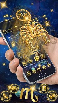 Gold Scorpion Constellation Theme Glitter Galax screenshot 7