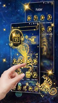 Gold Scorpion Constellation Theme Glitter Galax screenshot 9