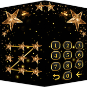 Golden Star Lock Screen Theme icon