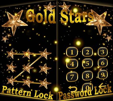 Golden Star Lock Screen Theme screenshot 2