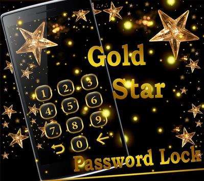 Golden Star Lock Screen Theme screenshot 6