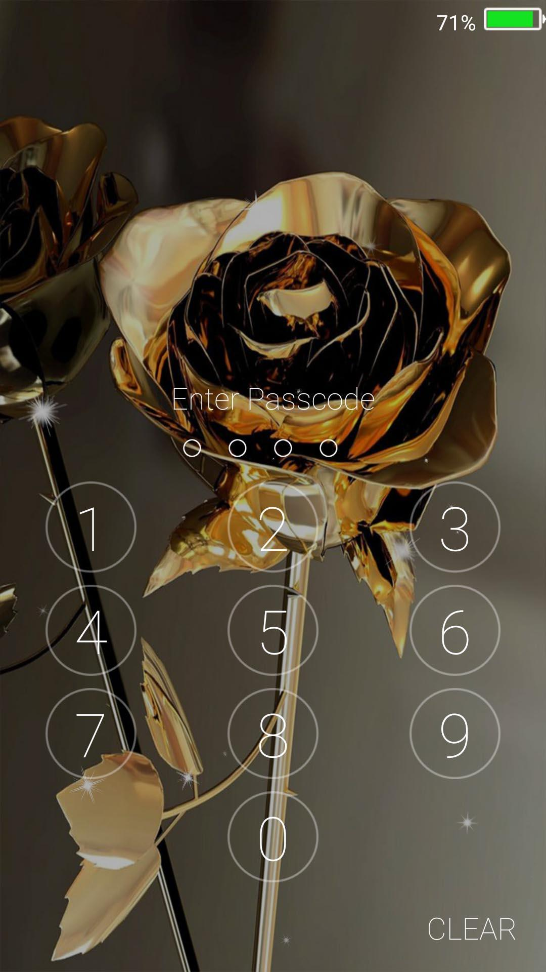 Gold Rose Live Wallpapers Lock Screen For Android Apk