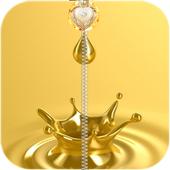 Gold Zipper Lock Screen icon