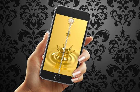 Gold Zipper Lock Screen poster