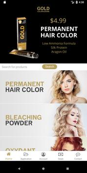 Gold Hair Color poster