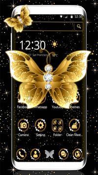 Golden butterfly poster